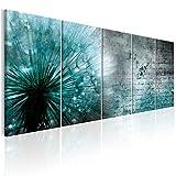 decomonkey Bilder Pusteblume Blumen 200x80 cm 5 Teilig