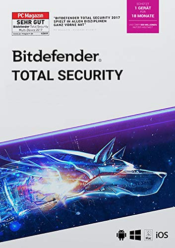 Bitdefender Total Security 2021 1 Gerät / 18 Monate (Code in a Box)