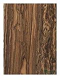 Aibote - 1 paio di coltelli in legno ziricote Messico con manico in legno, lamiere con spada, impugnature per coltelli personalizzati per lame vuote (ognuna è unica) (12 x 4 x 1 cm)