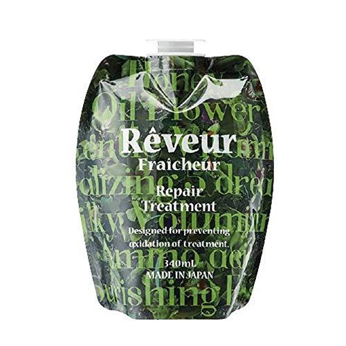 Reveur Fraicheur Repair Hair Treatment Refill 340ml - Green Floral Scent (Green Tea Set)