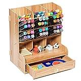 21x15x25cm Boîte rangement bureau Organisateur multimédia bureau bois avec tiroir porte-stylo crayon carte support de stockage de petites fournitures Plateaux de classement pour le bureau et l'école
