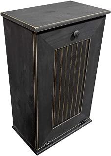 Sawdust City Tilt-Out Wooden Trash Bin Holder (Old - Black)