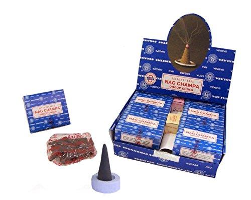 120 Coni d'incenso Satya Sai Baba Nag Champa confezione risparmio incensi indiani