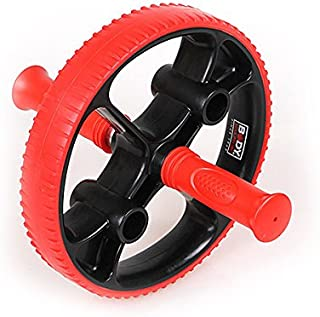 BodySculpture AB Wheel Plus (Black & red) - Exercise for Core Muscle, Upper Body