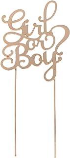 Sharplace Cupcake Topper Lettres Alliage sur Baguette Ornement de Gâteau Festif - Or Girl or Boy