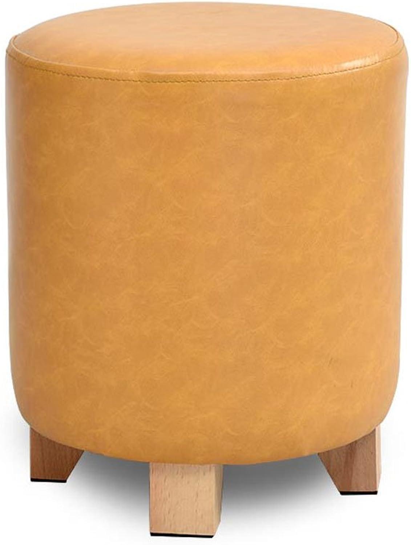CQOZ Solid Wood stools, Sofa Stool Stool Small Personality Low Stool Fashion Dressing Stool Creative shoes Stool shoes shoes Sofa Stool (color    4, Size   Large)