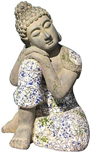 Dekoartikel Tierstatuen Gartenfiguren Schlafender Buddha Skulptur Garten Buddha Statue Religiöse Lieferungen Villa Garten Garten Dekorationen