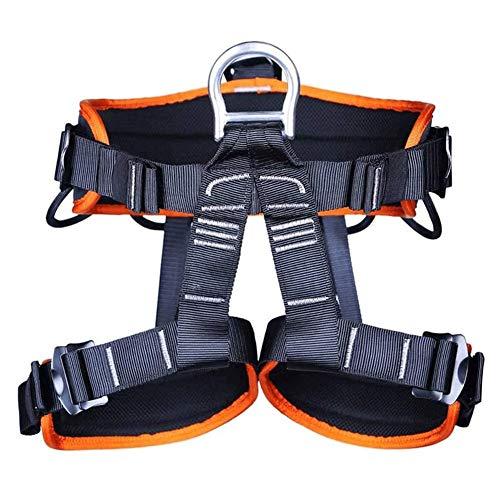 Arnés Seguridad para Escalada Protección de Caída Cintura Cadera Cinturón de Seguridad,Ajustable Equipos Anticaídas para Alpinismo, Salvamento en Alta montaña, expedición