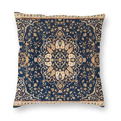 Fundas de cojín decorativas de la colección Oriental Wave Tabriz (1) fundas de almohada cuadradas para sofá, sala de estar, 45,7 x 45,7 cm