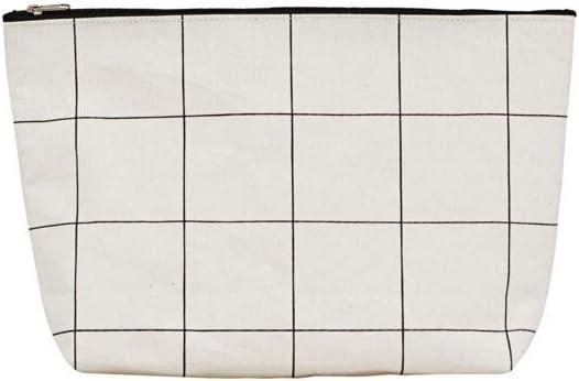 l: 32 cm House Doctor Toilet Bag Squares Multi-Colour One Size White h: 20 cm w: 8 cm