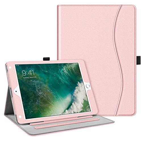 Fintie Case for iPad 9.7 2018 2017 / iPad Air 2 / iPad Air - [Corner Protection] Multi-Angle Viewing Folio Cover w/Pocket, Auto Wake/Sleep for iPad 6th / 5th Gen, iPad Air 1/2, Rose Gold