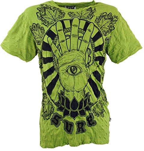 GURU SHOP, Sicuro T-Shirt Magic Eye, Limone, Cotone, Dimensione Indumenti:L, Magliette `Sure`