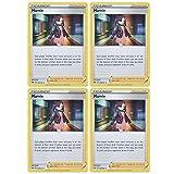 Pokemon Card - Marnie - Sword and Shield Base - x4 Card Lot Playset - 169/202 Holo Rare