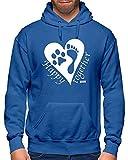 HARIZ Herren Hoodie Happy Together Hund Haustier Inkl. Geschenk Karte Royal Blau L