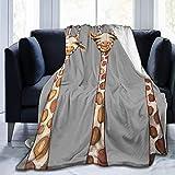 Yaxinduobao Throw Blanket Giraffe Ultra-Soft Micro Fleece Blanket Warm Soft Sofá Manta para Cama Sofá Sala de Estar