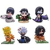 VNNY 2 Estilos Anime Naruto 6 unids/Set PVC Figuras de acción Juguetes Lindo Mini Figura Modelo muñe...