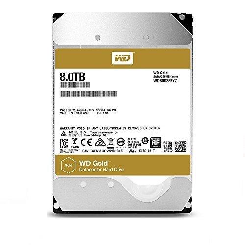 Western Digital WD8003FRYZ Hard Disk WD Gold di Classe Enterprise, 8 TB