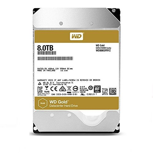 Western Digital WD8003FRYZ - Disco Duro Interno, 8 TB, Color Oro