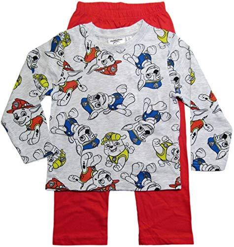 PAW PATROL Schlafanzug Jungen Pyjama Schlafanzug Lang (Marine/Rot/Grau, 98-104)