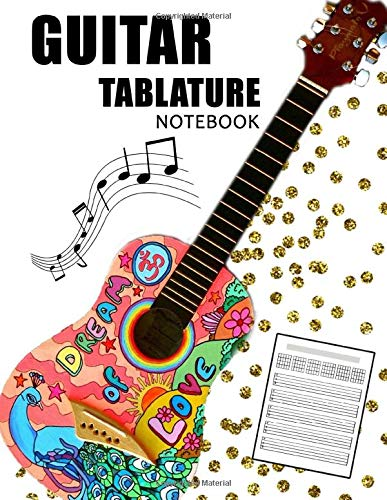 Guitar Tablature Notebook: Blank Musical Manuscript Paper with Chords Charts 110 Pages - Guitar
