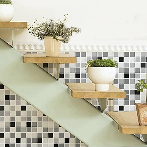 Patrón de mosaico,5 hojas,60*60CM,Adhesivos de pared,3D,Autoadhesivo,Espuma gruesa,Impermeable,Pared de sala de estar y Dormitorio y fondo,Decoración,Decoración,Arte,Bricolaje,Decoración del hogar
