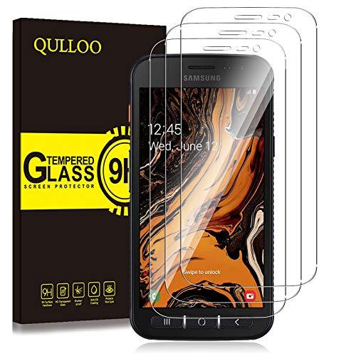 QULLOO Panzerglas für Samsung Galaxy Xcover 4S / 4,[3 Stück] Panzerglas Schutzfolie 9H Hartglas HD Displayschutzfolie Anti-Kratzen Panzerglasfolie Handy Glas Folie für Galaxy Xcover 4S / 4