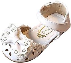Sandalias niña ❤️ Riou Zapatos bebés Niños Sandalias de Verano para niñas Chica Zapatillas Elegantes Bowknot Flor Princesa Zapatos Sandalias Vestir en Cuero Calzado
