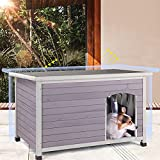 Aivituvin Wooden Dog Houses for Small Dog Medium Dog Outdoor Insulated, Weatherproof Dog Houses Outside with Raised Feet