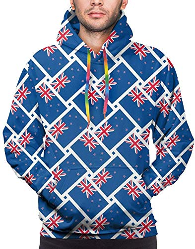 XIUZHIZH Men's Novelty Casual Hoodies Pullover Hooded Sweatshirt with Pocket M