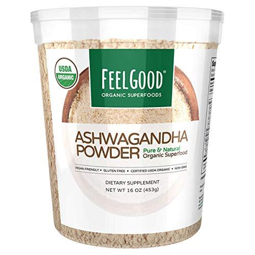 Feel Good USDA Organic Ashwagandha Powder, 16 Ounces