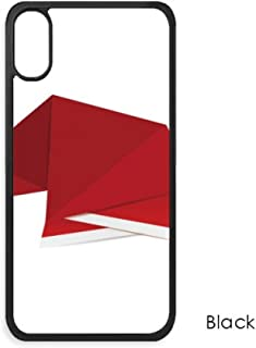 Red Abstract Christmas Hat Origami for iPhone Xs MaxS Max iPhonecase Cover Apple Phone Case