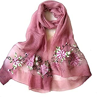 Women's Wool Silk Embroidered Scarf Sunscreening Cape Beach Cover Up