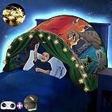 FLAYOR Dream Tents – Tienda de campaña plegable para niños, tienda de campaña para niños, para jugar tiendas de campaña, regalo de Navidad (Dinosaurios + LED cadena)