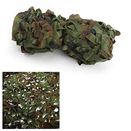 Filet de camouflage camouflage extérieur, Vert Camouflage Net 5x8m Parasol Net Carport Jardin Décoration Vie Privée Oxford Chiffon Terrasse Terrasse Écran Solaire Armée Camo Netting Photographie De Ch