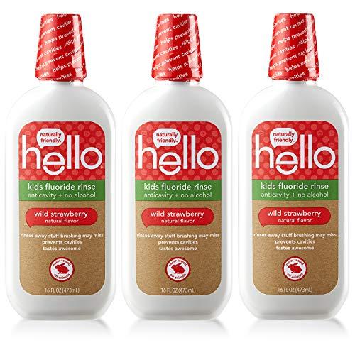 Hello Kids Wild Strawberry Natural Flavor Anticavity...