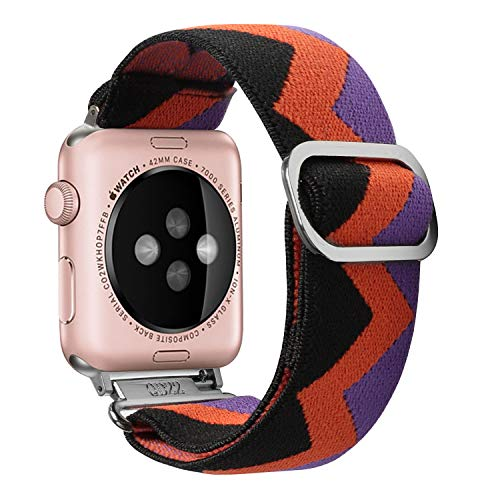 YPSNH Compatible for Apple Watch Strap 38mm 40mm Lady Scrunchie Watchband Adjustable Stretch Replacement Wristband Women Strap Elastic Bracelet for iWatch Series 6/5/4/3/2/1,SE,Nike