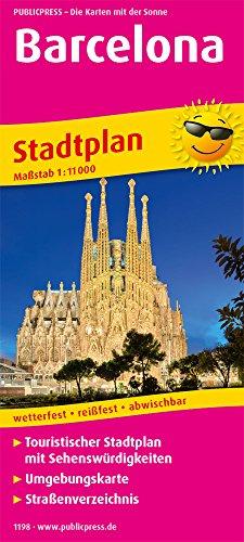 Barcelona: Touristischer Stadtplan mit Sehenswürdigkeiten und Straßenverzeichnis. 11.000 (Stadtplan: SP)