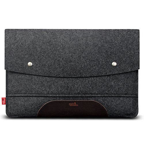 Affordable Pack & Smooch MacBook Pro 16 Case - 100% Merino Wool Felt and Pure Vegetable Tanned Leath...