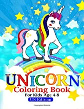unicorn coloring book for kids ages 4-8: unicorn coloring book for kids ages 4-8 us edition