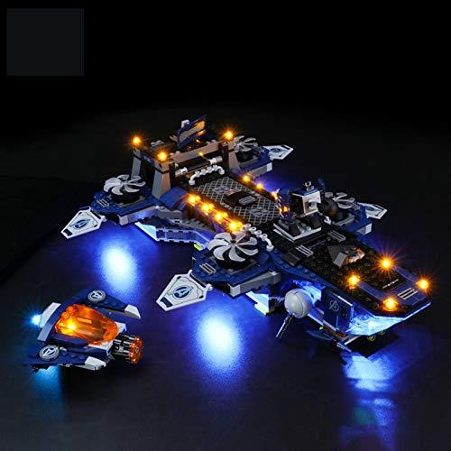 Kit De Iluminación Led para Lego Super Heroes Marvel Avengers Helicarrier, Compatible con Ladrillos De Construcción Lego Modelo 76153 (Juego De Legos No Incluido)