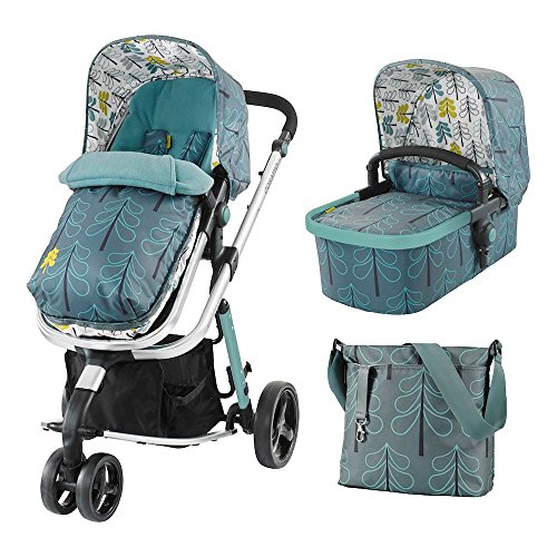 Cosatto Giggle 2 Pram and Pushchair 3 in 1 (from Birth Carrycot, Pushchair, Footmuff and Change Bag), Fjord