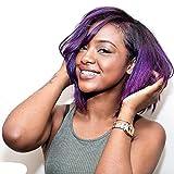 Brazilian Virgin Human Hair Ombre Hair Body Wave 4 Bundles Short Inch Hair Weave 200g/Package(8Inch, 1b/purple)