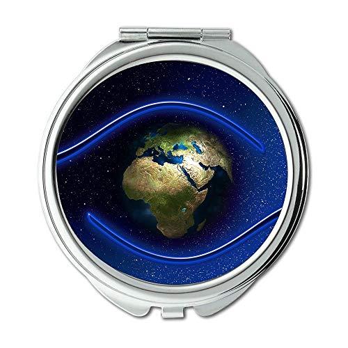 Yanteng Spiegel, Mausefalle Flasche Erde, Hände Schutz Schützen Globe Earth World Gott Schminkspiegel, Taschenspiegel, Tragbare Spiegel