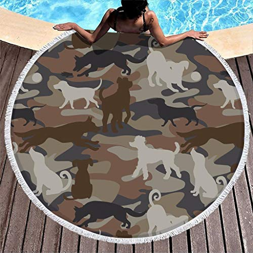 Yzanswer Toallas de playa acogedoras con diseño de bandera de perro, para bebés o adultos, color blanco 150 cm