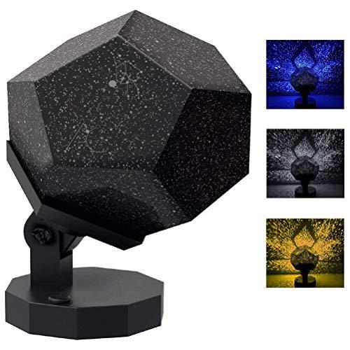 60,000 estrellas Original planetario casero Caronan Star lámpara noche romántico planetario estrella celestial proyector noche cielo lámpara para habitación decoración del hogar (Luz blanca)