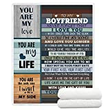 YunTu to My Boyfriend Blankets from Girlfriend Super Soft Sherpa Throw Blankets for Bed Sofa and Couch Gifts for Boyfriend Fuzzy Warm Blanket