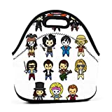 The Johnny Depp Collection Lunch Bag Neoprene Portable Insulated Reusable Leakproof Lunch Box Tote For Work Outdoor Travel Picnic