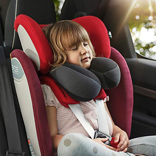 INFANZIA Kids Travel Neck Pillow, Head Neck and Chin Support, Child Size, Gray