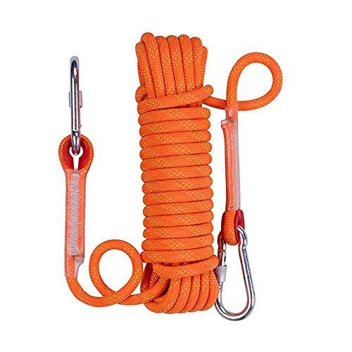 Outdoor Climbing Rope 20M Diametro di 13mm Resistente Corda Multifunzionale di Sicurezza utilizzati for Climbing Grotte, Camping Salvataggio, l'esplorazione e la Protezione di ingegneria, Giallo ZDWN