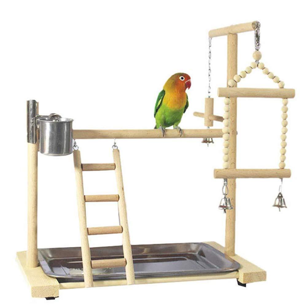 La Jaula De Pájaros Stand Para Loros, Loros Playstand Aves Juegos, Madera Perca Gimnasio Parque Infantil Soporte Escalera Con Juguetes Para Masticar Ejercicio Playgym: Amazon.es: Hogar